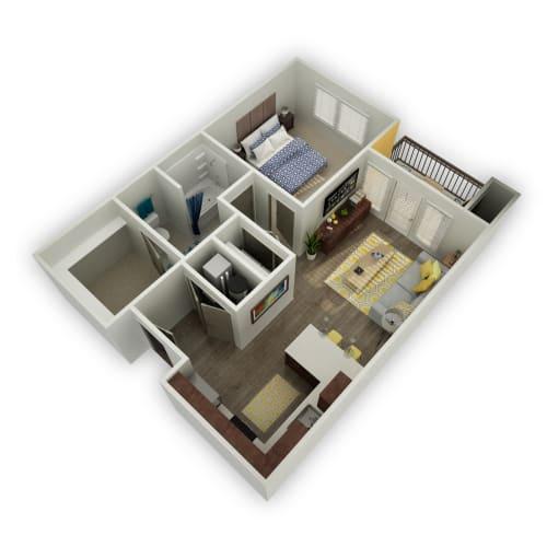 Floor Plan  Citrine - 1 Bedroom