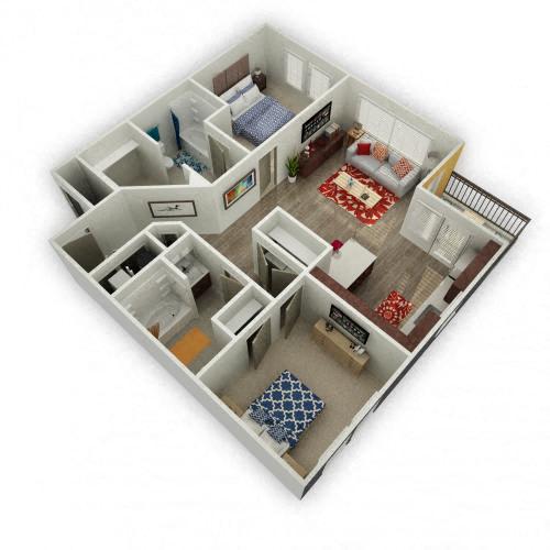 Floor Plan  Crimson - 2 Bedroom