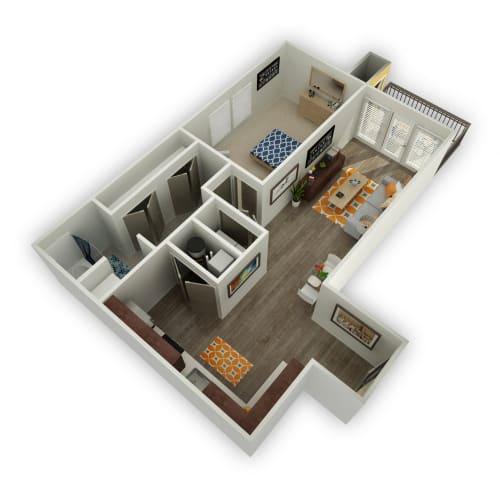 Floor Plan  Ochre - 1 Bedroom