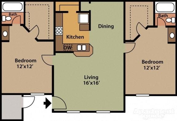 Floor Plan  at Presidio North Apartments in Phoenix, AZ, opens a dialog.