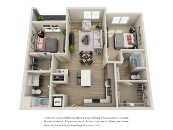 Floor Plan  BDX at Capital Village in Rancho Cordova, CA