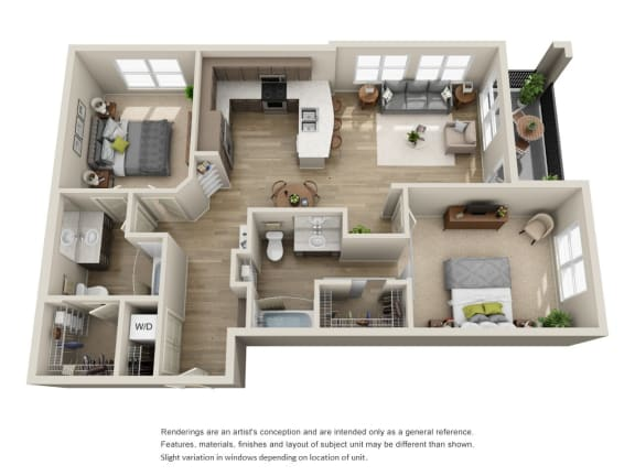 Floor Plan  2x2 units available at BDX-at-Capital-Village | B3