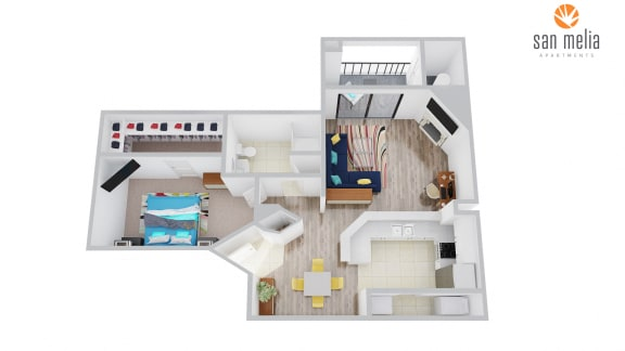 Floor Plan  San Melia Apartments White Sand Premier Floor Plan