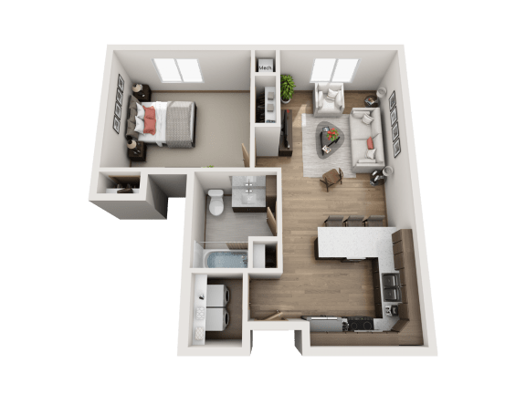Floor Plan  1 Bed   1 Bath (B3)