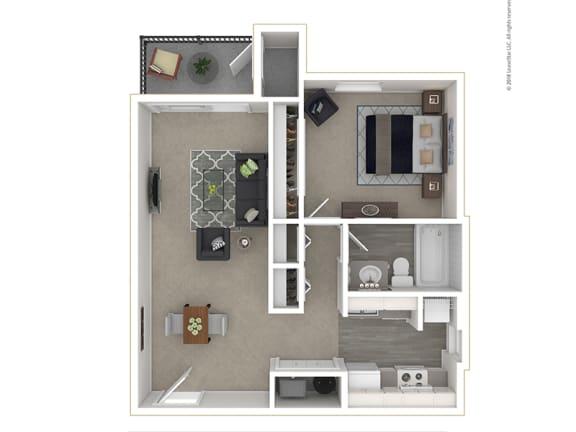 Floor Plan  Clover Creek - Floor PLan - 1Bedroom