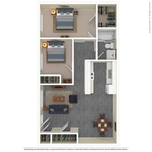 Floor Plan  The Grove Apartments Floor Plan Model2A
