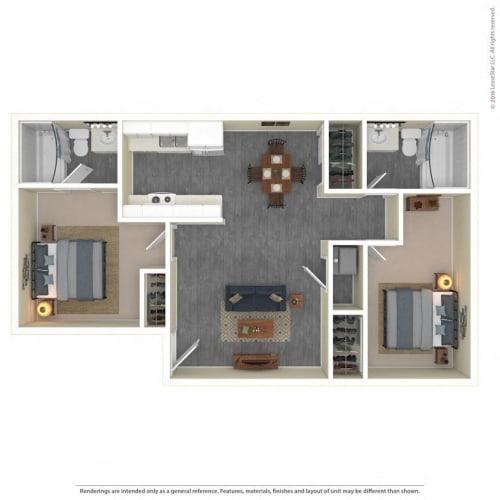 Floor Plan  The Grove Apartments Floor Plan Model2B