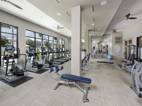 State-of-the-art fitness center at Azul Baldwin Park, Florida