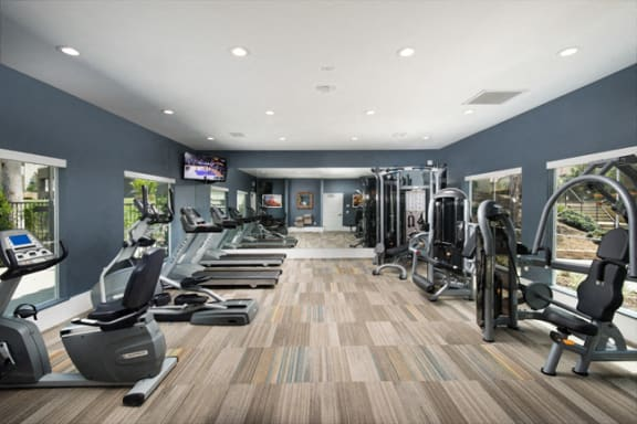 Fitness center at Legends at Rancho Belago, California, 92553
