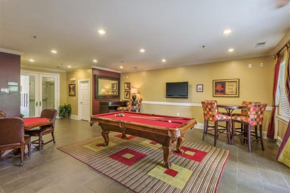 Game room at Rose Heights  Apartments, Raleigh, NC