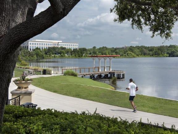 Running Trails And Lake Baldwin at Azul Baldwin Park, Florida, 32814