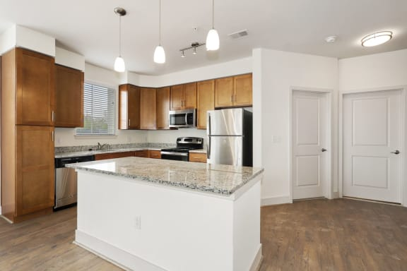 B2B kitchen with electric appliances at Avenue Grand, White Marsh, MD, 21236