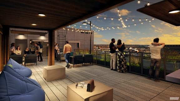 Rooftop Lounge at Union Heights, Washington