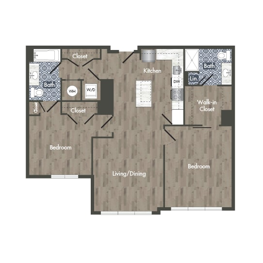 B13B Floor Plan at Park Kennedy, Washington, Washington