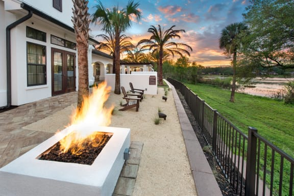 Outdoor Lounge Firepit at Town Trelago, Maitland, 32751