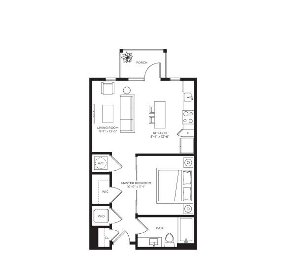 0 Bed 1 Bath Grove Floor Plan at Town Trelago, Maitland, FL, 32751