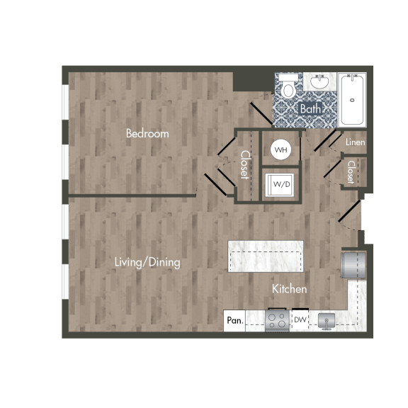 A7A Floor Plan at Park Kennedy, Washington