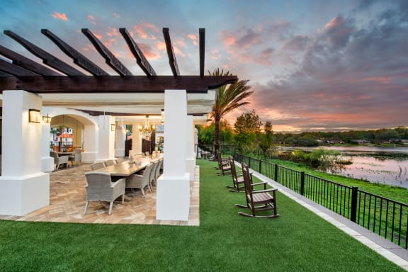 Outdoor Poolside Dining at Town Trelago, Maitland, Florida