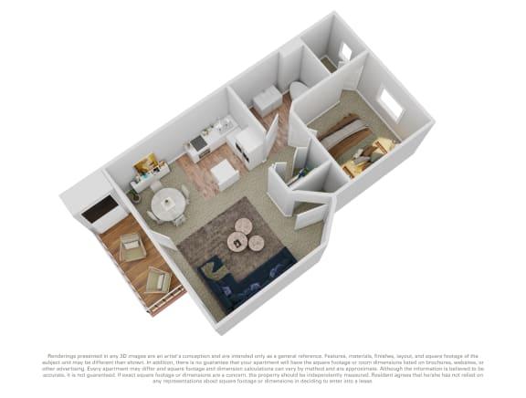 Floor Plan  Cedar House 1 bed 1 bath