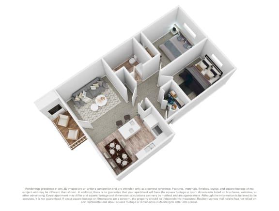 Floor Plan  Cedar House 2 bed 2 bath