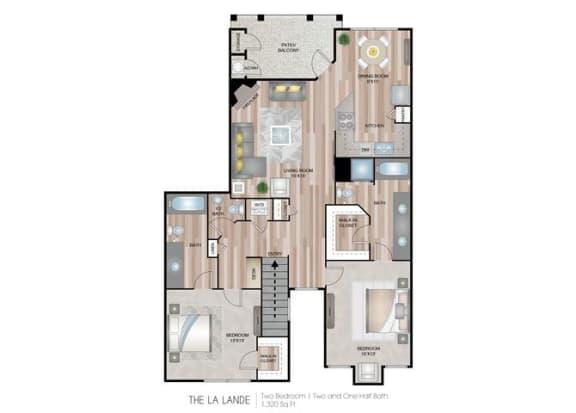 LaLande two bedroom two bathroom