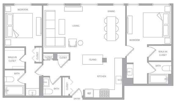 Floor Plan  NobHillTower_FP_B20c_2bd25ba_1460SF