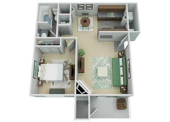 Verona Apartment Homes  1 Bedroom 1 Bath Apartment