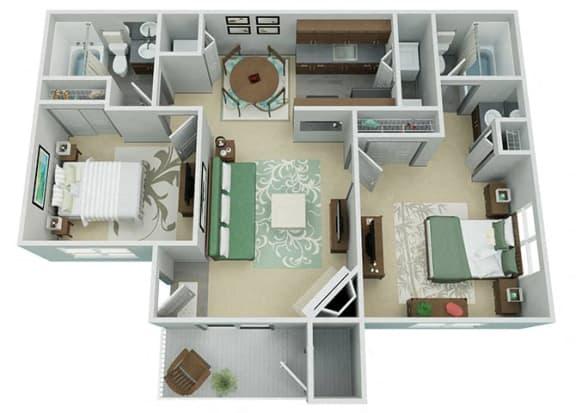 Verona Apartment Homes  2 Bedroom 2 Bath Apartment