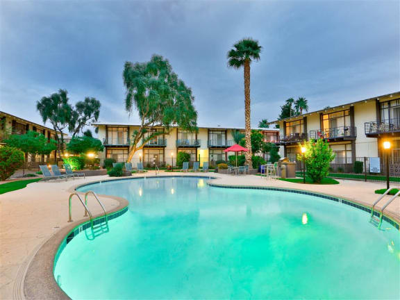 Resort-Inspired Pool and Spa at Paradise Palms, Phoenix, Arizona