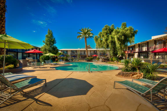 Resort-Inspired Pool at Paradise Palms in Biltmore, Phoenix