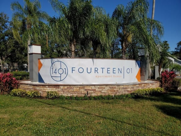 Fourteen 01 Monument Sign