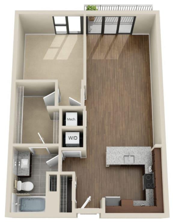 Floor Plan  1R