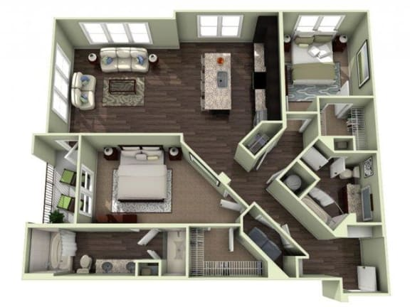 BILTMORE Floor Plan at LaVie Southpark, Charlotte, North Carolina