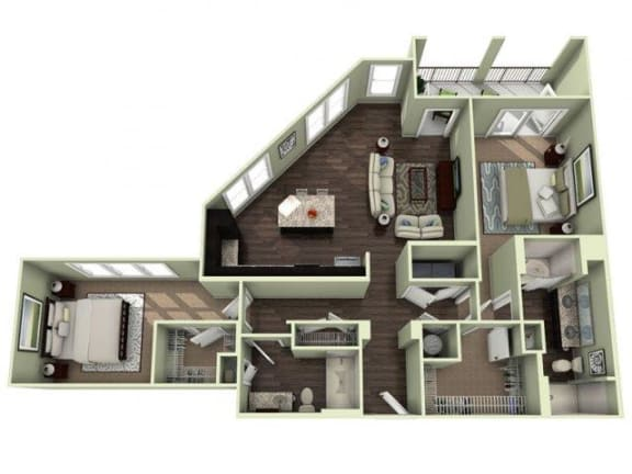 OLDEDWARDS Floor Plan at LaVie Southpark, Charlotte, 28209