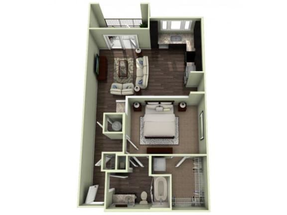 PIEDMONT Floor Plan at LaVie Southpark, Charlotte, 28209