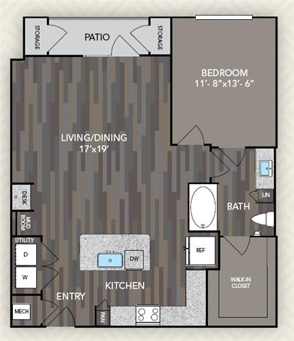 A5 Floor Plan at The Alden at Cedar Park, Texas, 78613