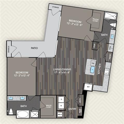 B4 Floor Plan at The Alden at Cedar Park, Cedar Park, Texas
