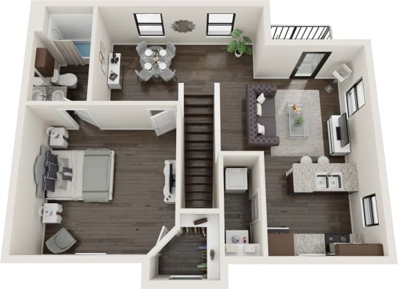 1 Bedroom Flow Floor Plan