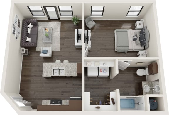 1 Bedroom Element Floor Plan
