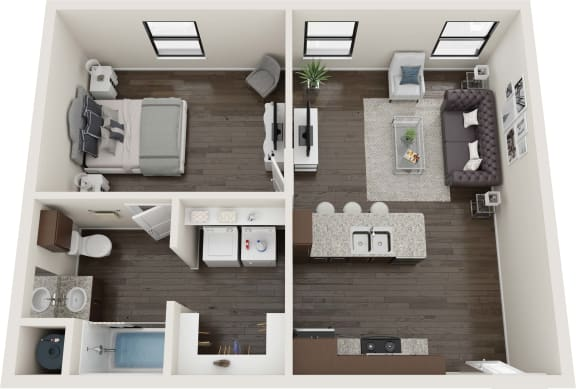 1 Bedroom Tranquility Floor Plan