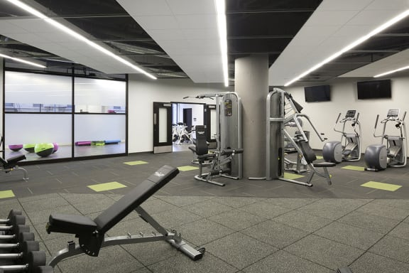 Weight Equipment at the 24-Hour Fitness Center