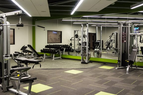 24-hour Fitness Center with Wellbeats