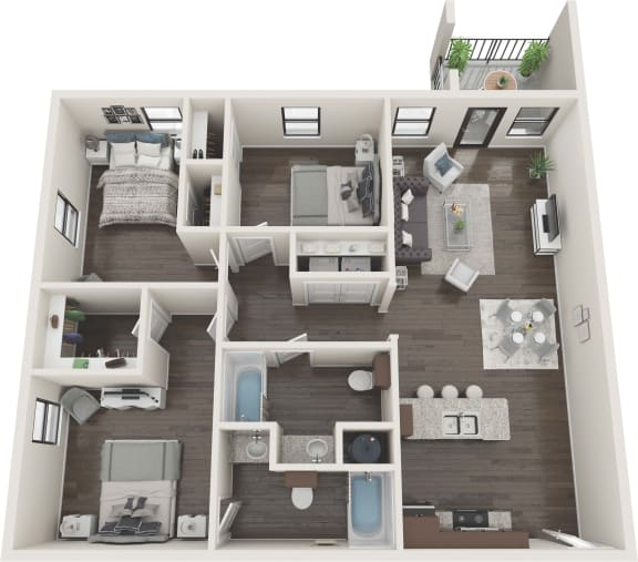 3 Bedroom Serenity Floor Plan