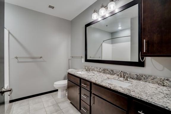Large Double Bathroom Vanity with Granite