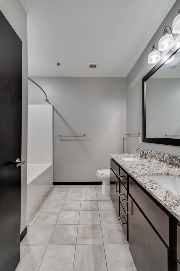 Large Bathroom with Shower and Tub