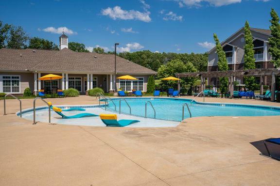 Pool with Sun Lounge Chairs