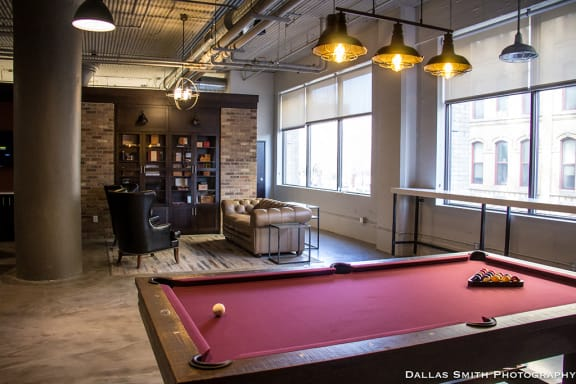 Community Room with Gaming Tables