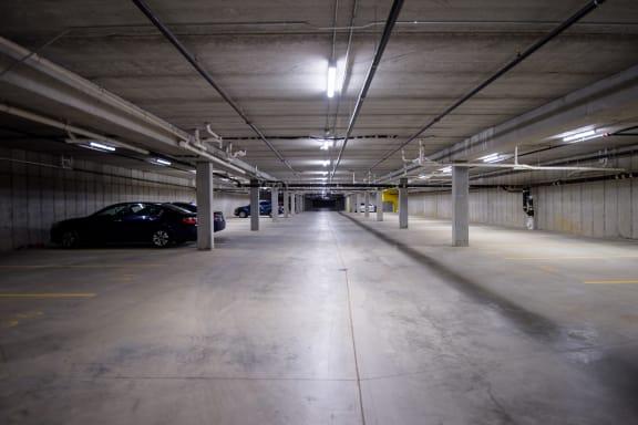 Spacious Underground Garage Parking