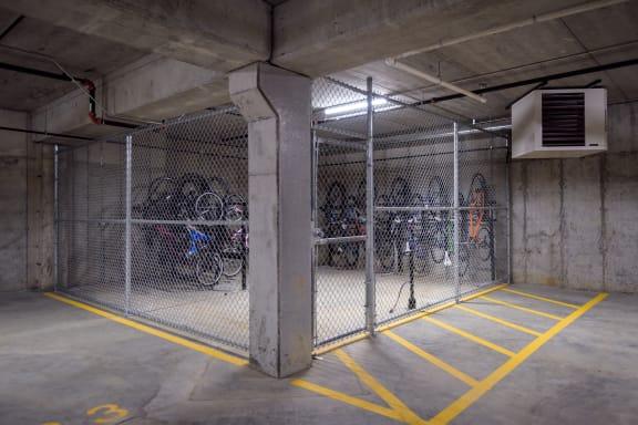 Bike Storage and Repair Station in the Underground Garage