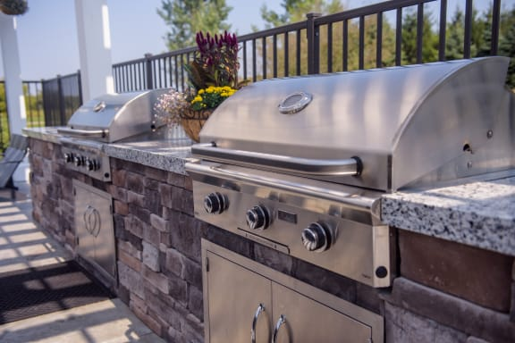 Outdoor Grills at the Pool Sundeck